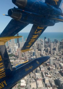 Blue Angels over Chicago. Photo courtesy U.S. Navy
