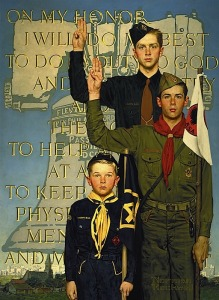 """I Will Do My Best"" by Norman Rockwell, 1953."